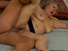 Dr Tuber - Grandma gets her wet pussy fucked part4