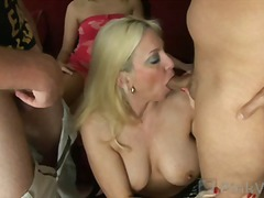 deepthroat, oral, swingers, blonde, wife, 4some, boobs, hardcore, group sex, blowjob