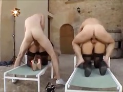 anal sex, group, group sex, blonde