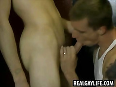 Twink sucks on a cock ... video