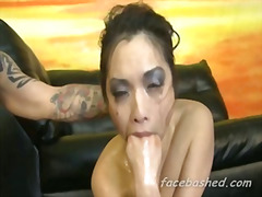 H2porn Movie:Used slut chokes herself in ga...