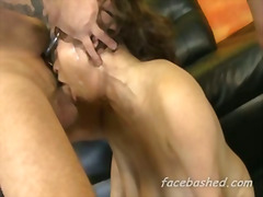 Extreme hardcore gangbang of pornstar and she likes it rough