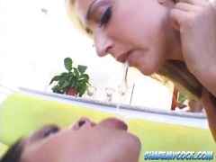 Yobt TV Movie:Kinky lesbians kissing and usi...