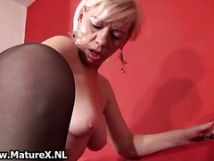 Dirty old slut gets all horny playing part4