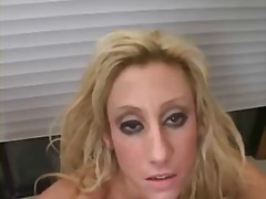 Horny blonde milf wants your cum