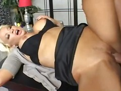 mature, blonde, big tits, blowjob,