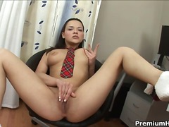 Over Thumbs - Abigail shows off her ...