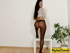 Tube8 Movie:Sharon nylons fetish dildo mas...