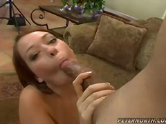 facial, brown hair, blowjobs, black cock