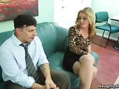Sheena Shaw is a hot blonde boss who takes her assistants cock