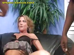 black, group sex, blonde, big cock
