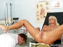 Horny old doctor abusi...