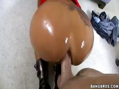 milf, tattoo, babe, piercing, fetish, titty fuck, oil, ass fucking,