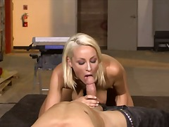 Hottest blond workwoma... video