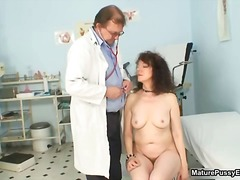 fetish, mature, bizarre, uniform, housewife, older, brunette