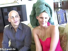 A Sexy Blonde Housewife Getting Her F...