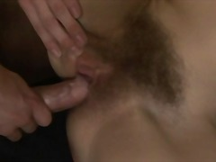 Cum on Very Hairy Pussy 3