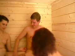 Two mature german bitches take their men into a hot foursome