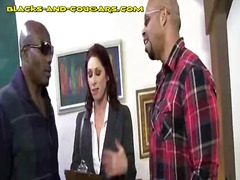 DrTuber Movie:Sexy Cougar Sucks Two Blacks