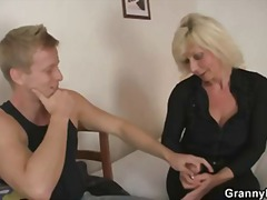 Old blonde rides his s...