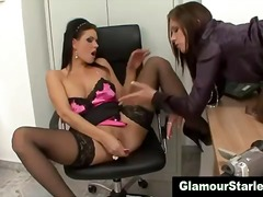 Naughty glam office le...