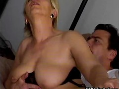 cumshot, mature, bizarre, hardcore, blonde, big-tits, housewife, older, granny, blowjob