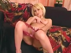 solo, stockings, masturbation
