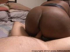 Huge Tit Ebony BBW Housewife Gets Fuc...