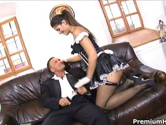 Sexy maid likes cunt and rod