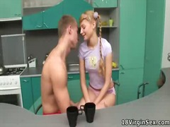 Insatiable blonde virg... video