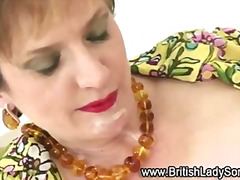 Mature stocking brit Lady Sonia fuck ...
