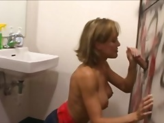 Husband watches Milf Suck Glory Hole ...