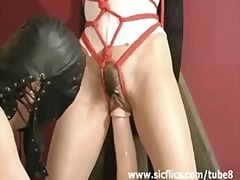 bondage, domination, toys, bdsm, dildo, asian, extreme, brunette, bizarre, brutal, pussy-eating, insertion