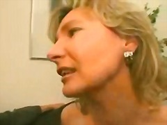 Blonde German MILF gets seduced in a train station and gets drilled