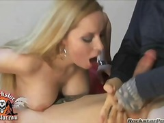 cocksucking, blonde, adorable, blow, rack