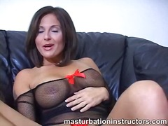 Jerky teacher puts her feet up and de...