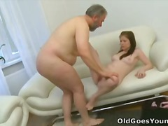 Maria and her boyfriend aren't as close as they thought. This old guy manages to quite literally &quotcum&quot between them. This is an awesome group sex scene
