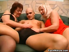 blowjob, threesome, mature,