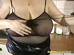 MASSIVE BOOBS IN FISHNET preview