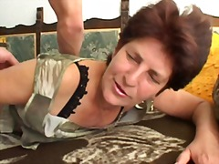 Mature blonde and brunette are getting drilled and sucking cock