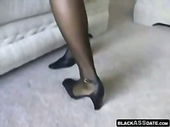 stockings, black, nylons, feet,