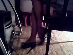 fetish, stockings, masturbation,