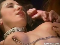 Slave's body is flogged by that guyr Mistress
