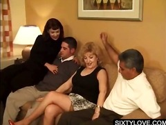 fetish, mature, blowjob, hardcore, brunette, blonde, granny, older, group