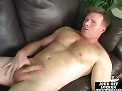 Thumb: Mature guy plays with ...