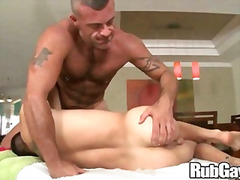 facial, oil, pussy-rubbing, ass