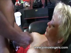 interracial, blonde, sucking,