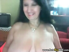 Busty BBW MILF stripping on cam