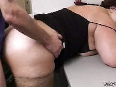 Chubby brunette fucks ... video
