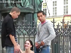 girl-on-girl, public, big-dick,